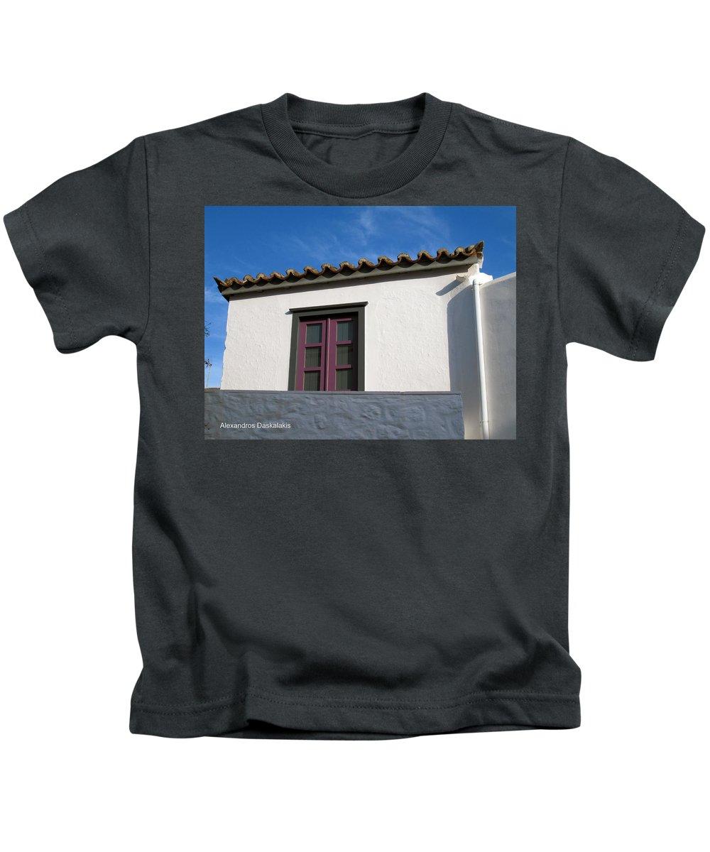 Alexandros Daskalakis Kids T-Shirt featuring the photograph Hydra House by Alexandros Daskalakis
