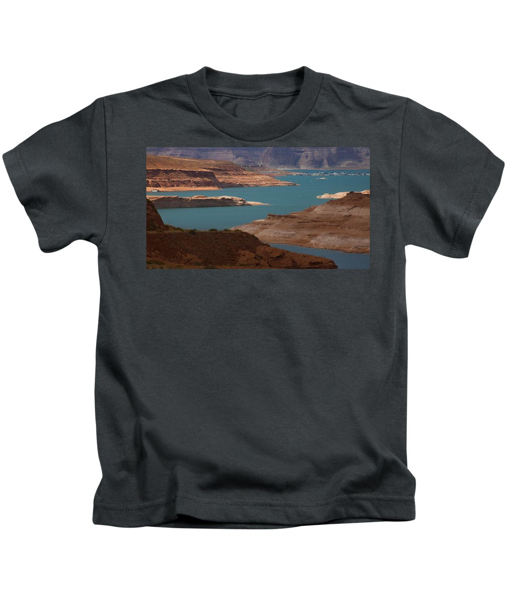 Lake Powell Kids T-Shirt featuring the photograph Lake Powell by Kathleen Odenthal