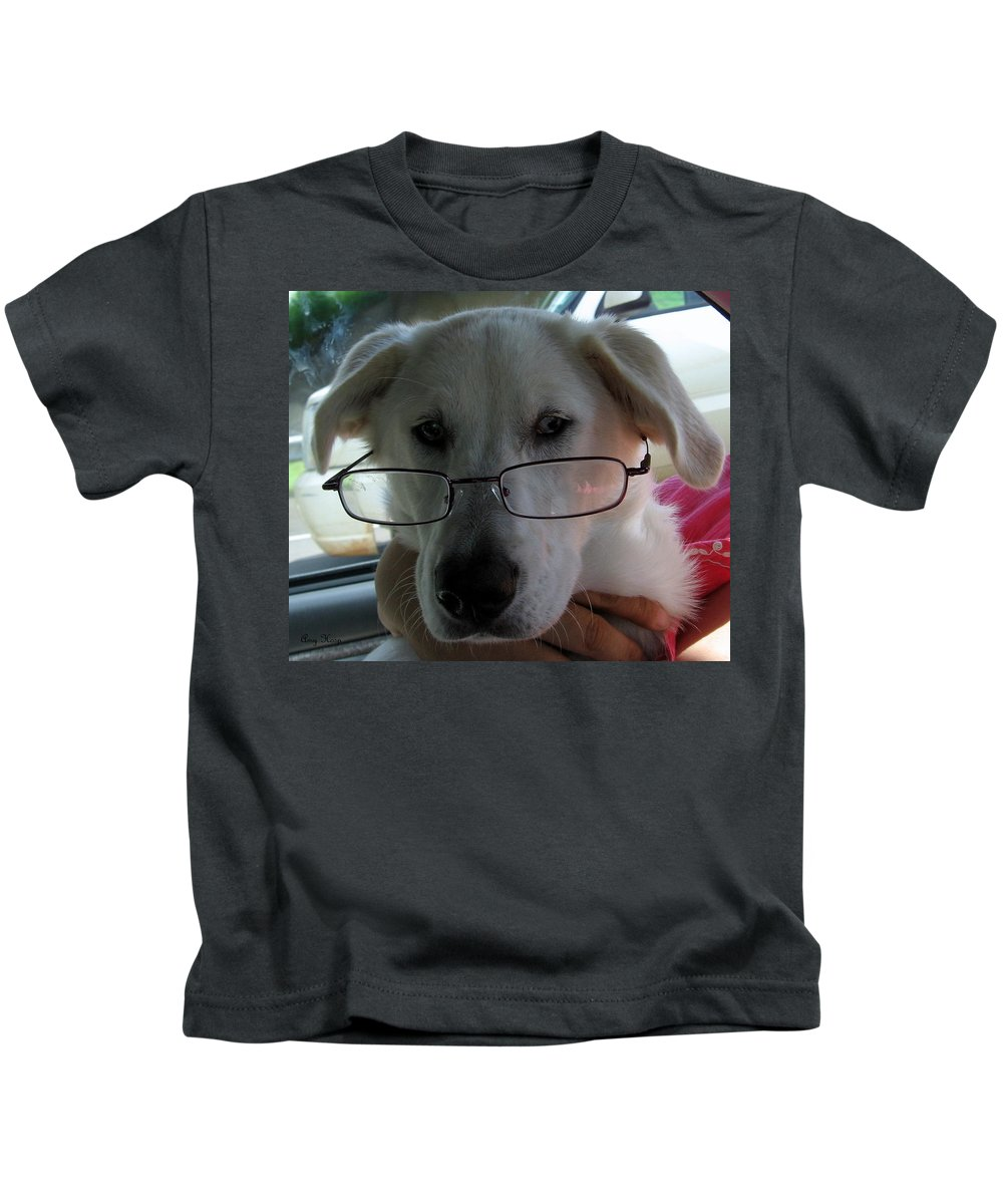 Lab Kids T-Shirt featuring the photograph Liberty The Professor by Amy Hosp