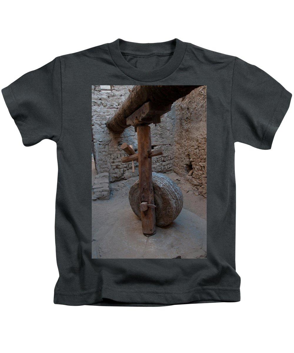 Egypt Mud Brick Village Kids T-Shirt featuring the digital art Mud Brick Village by Carol Ailles