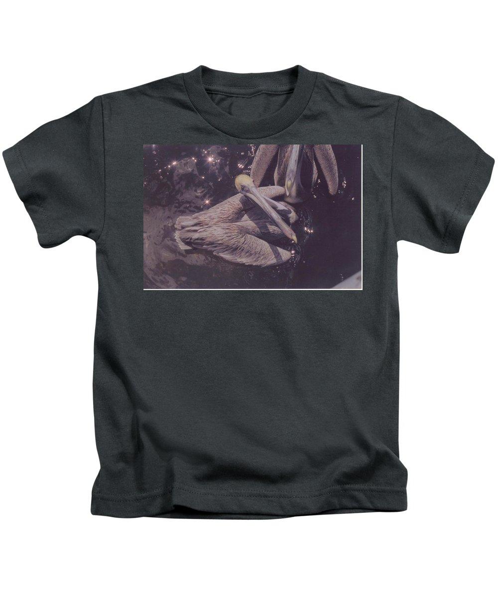 Matlasha Florida Kids T-Shirt featuring the photograph Pelicans by Robert Floyd