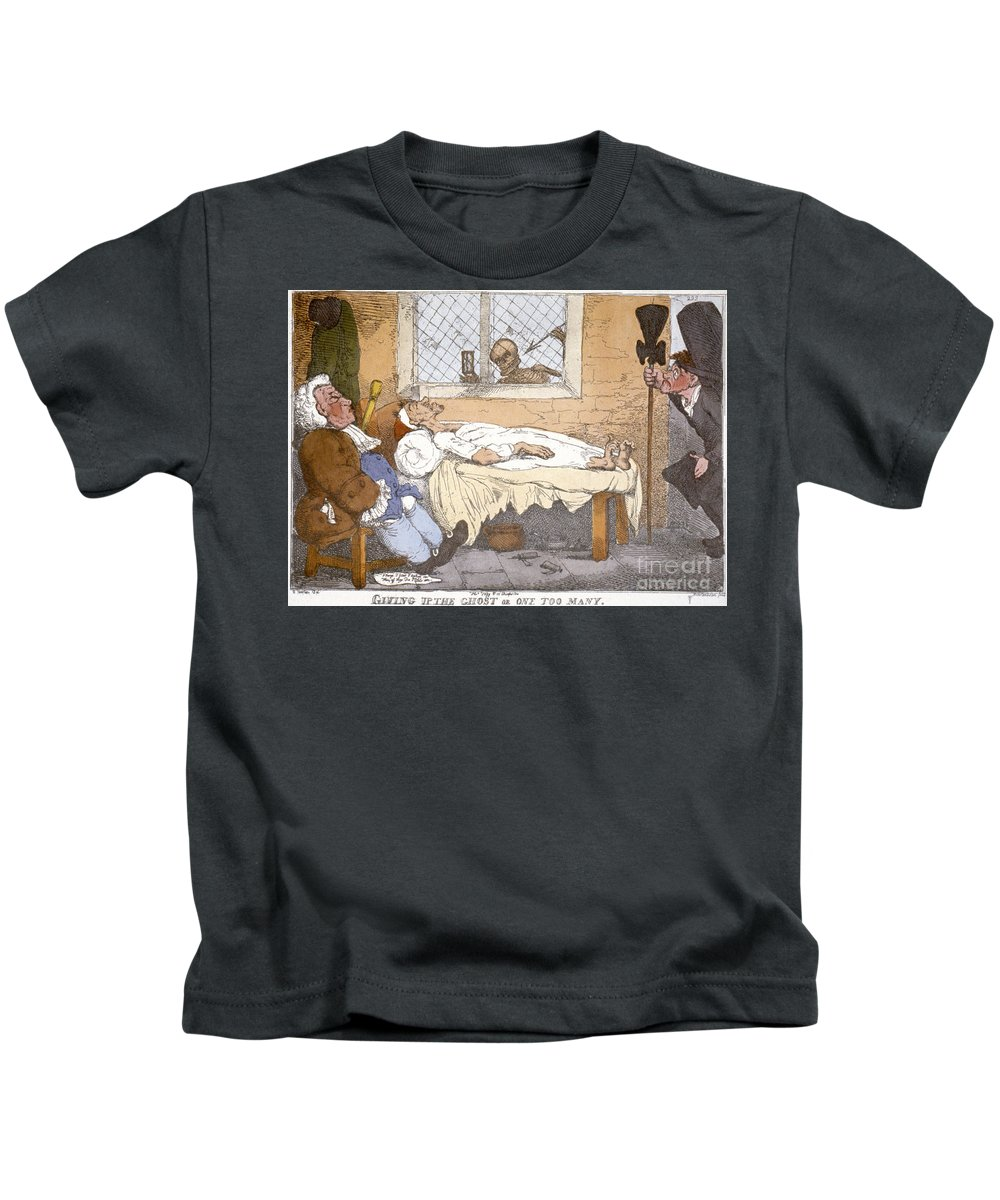 Bed Kids T-Shirt featuring the photograph Rowlandson Cartoon by Granger