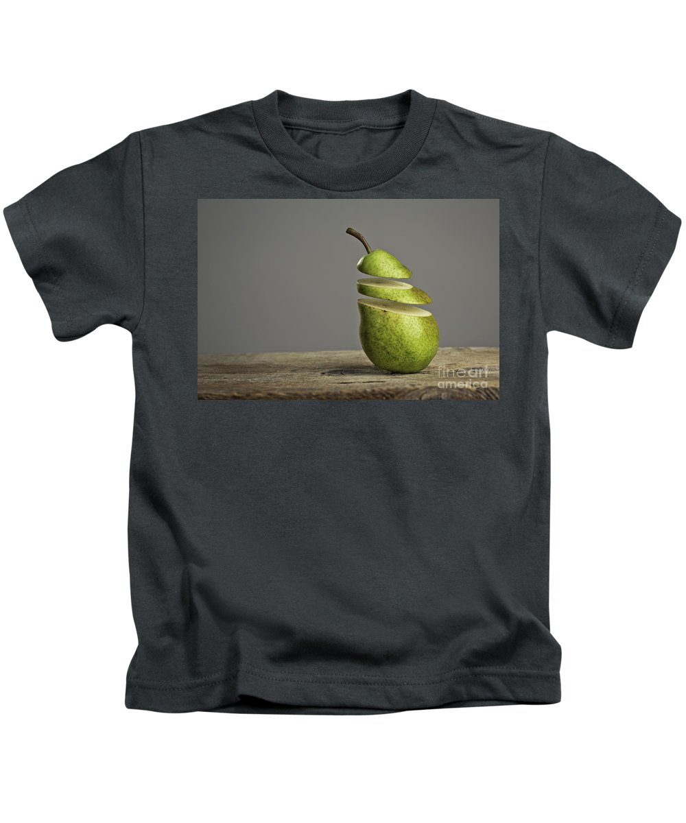 Pear Kids T-Shirt featuring the photograph Sliced by Nailia Schwarz