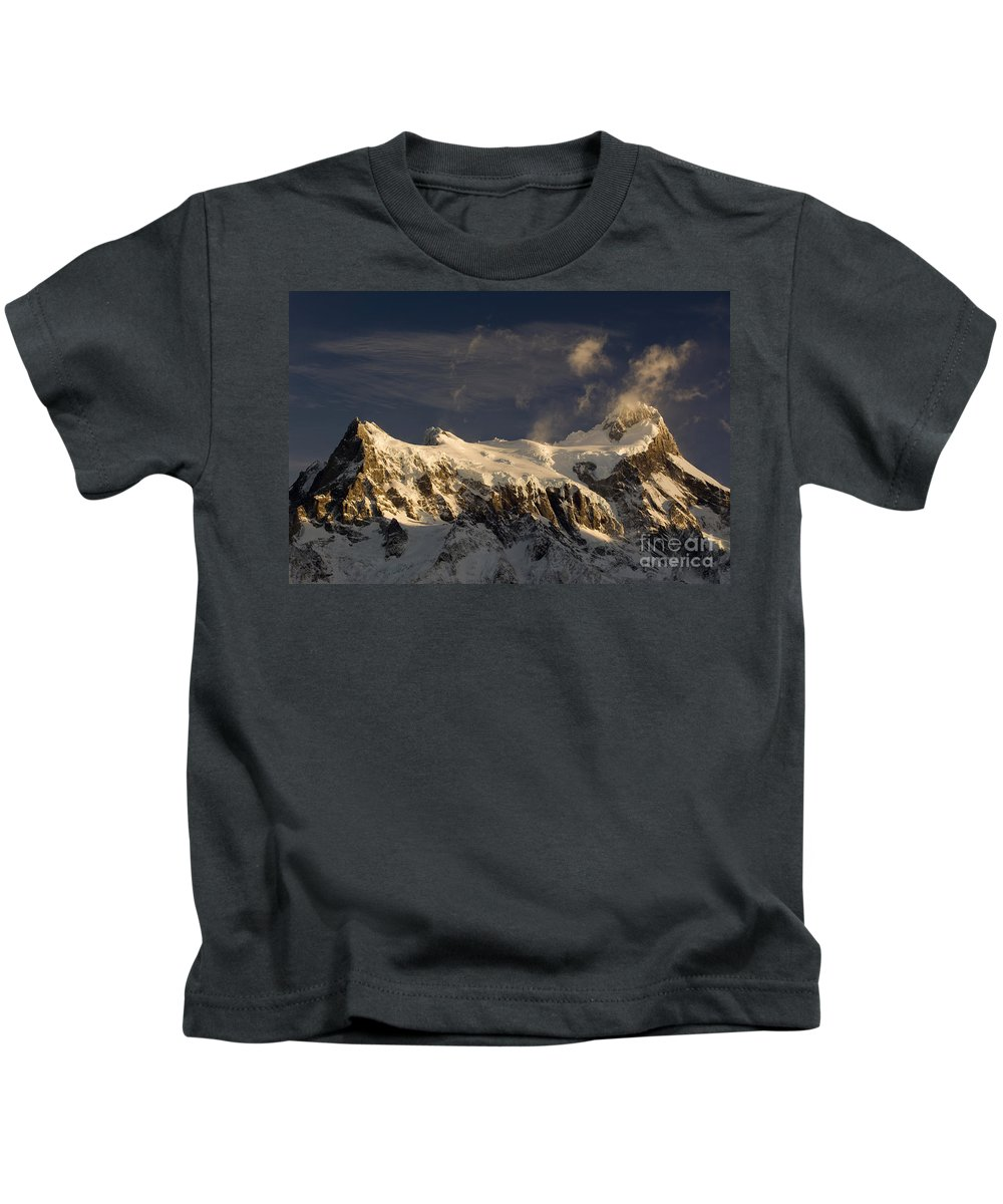 Mountain Kids T-Shirt featuring the photograph Torres Del Paine, Chile by John Shaw
