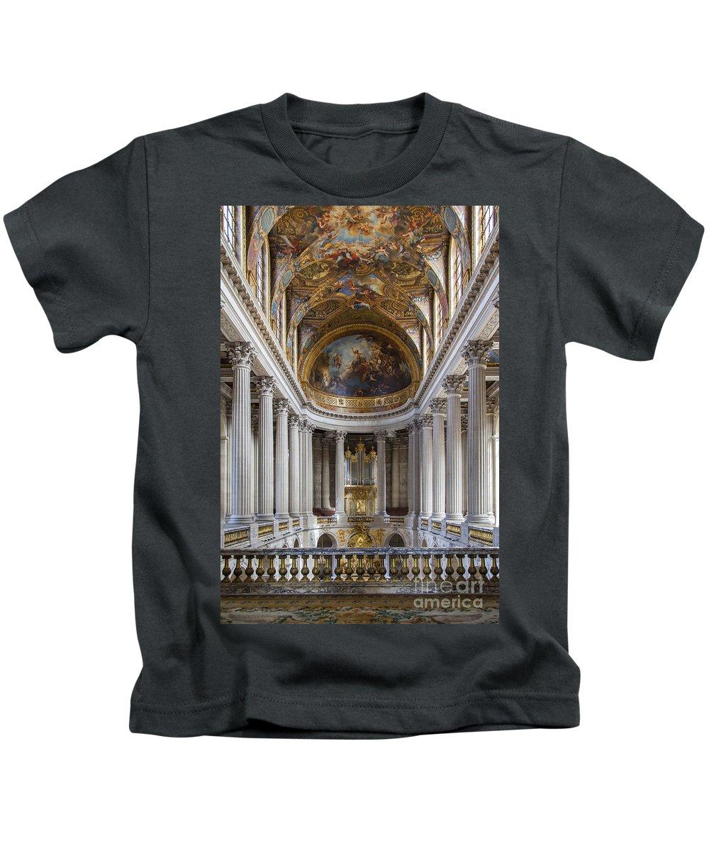 Castle Kids T-Shirt featuring the photograph Versailles Chapel by Brian Jannsen