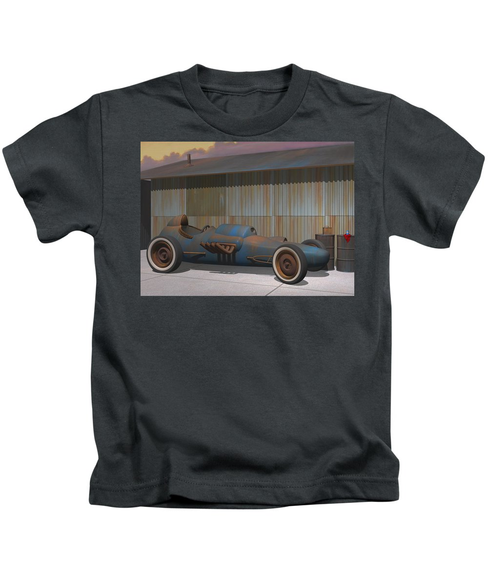 Dragster Kids T-Shirt featuring the digital art Vintage Dragster by Stuart Swartz