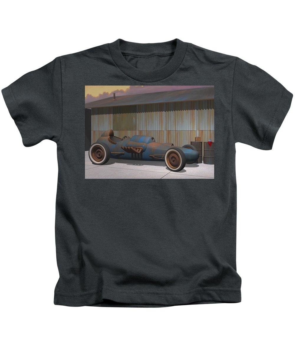 Dragster Kids T-Shirt featuring the digital art Vintage Dragster by Stuart Swartz