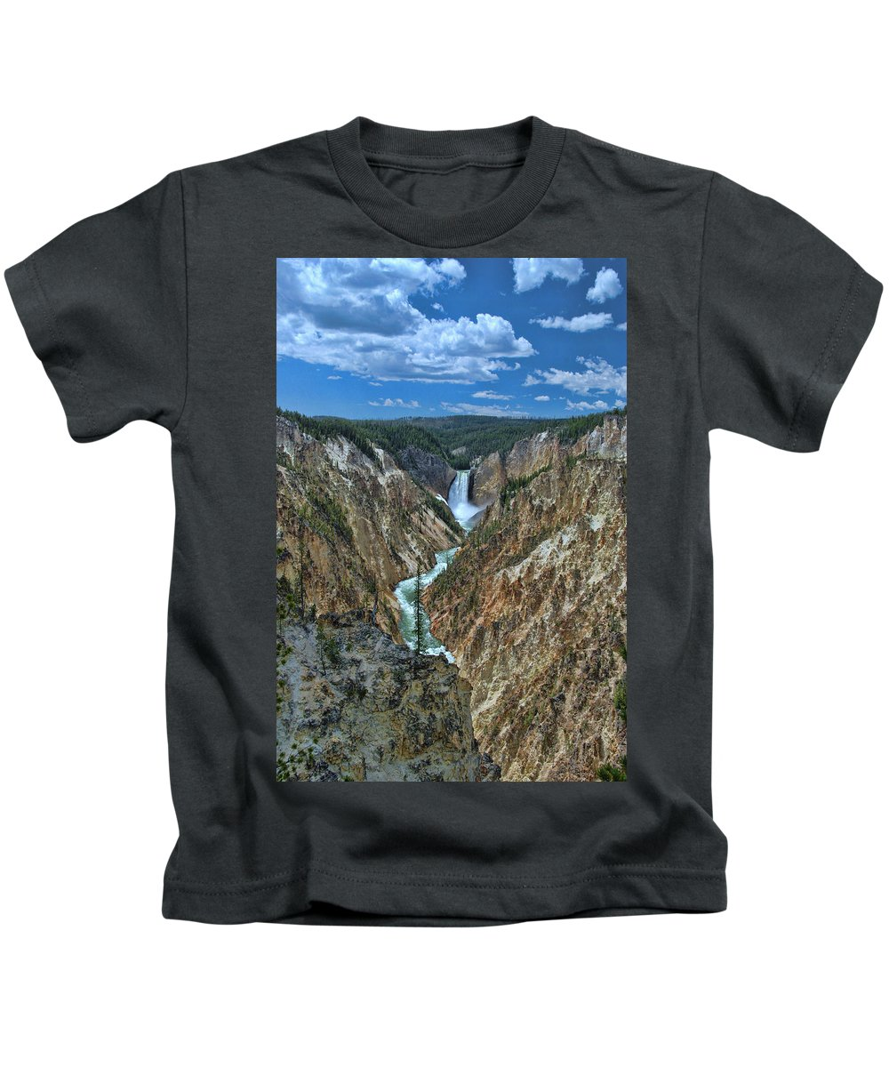 Yellowstone River Kids T-Shirt featuring the photograph Yellowstone River by Allen Beatty