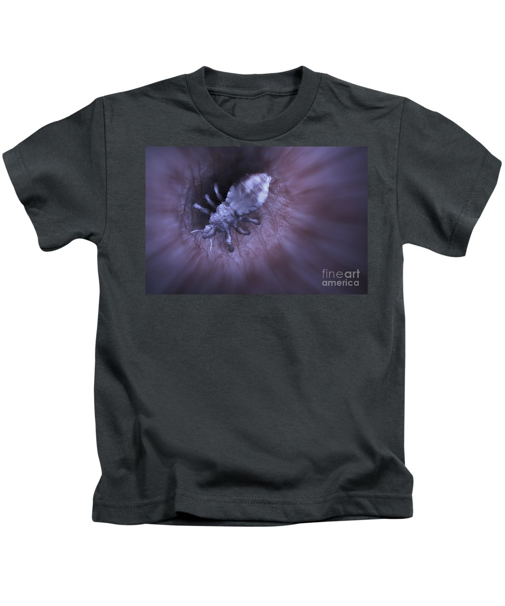 Digitally Generated Image Kids T-Shirt featuring the photograph Head Louse by Science Picture Co
