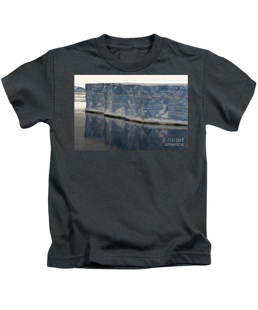 Iceberg Kids T-Shirt featuring the photograph Iceberg, Antarctica by John Shaw