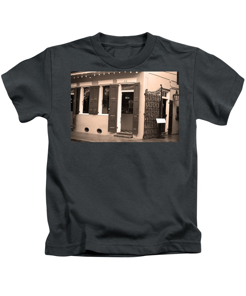 America Kids T-Shirt featuring the photograph New Orleans - Bourbon Street 28 by Frank Romeo
