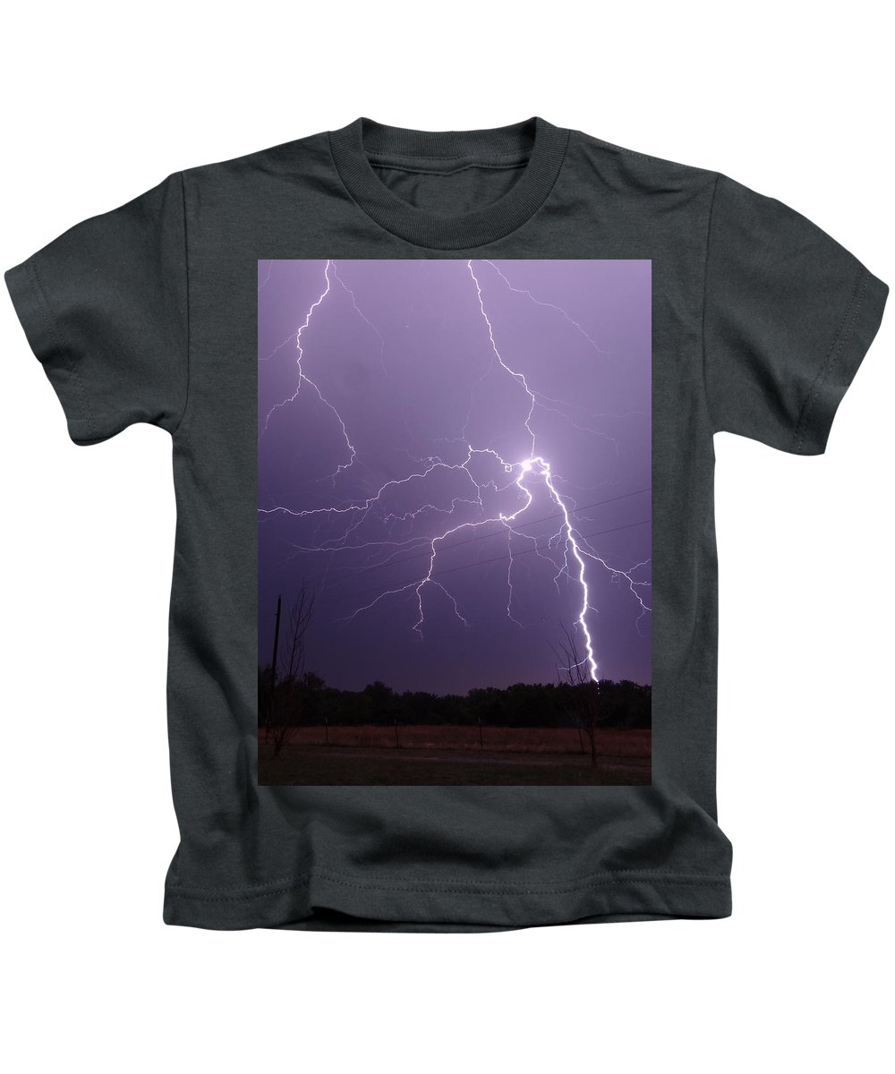 Lightning Kids T-Shirt featuring the photograph 2922 by Onyx Armstrong