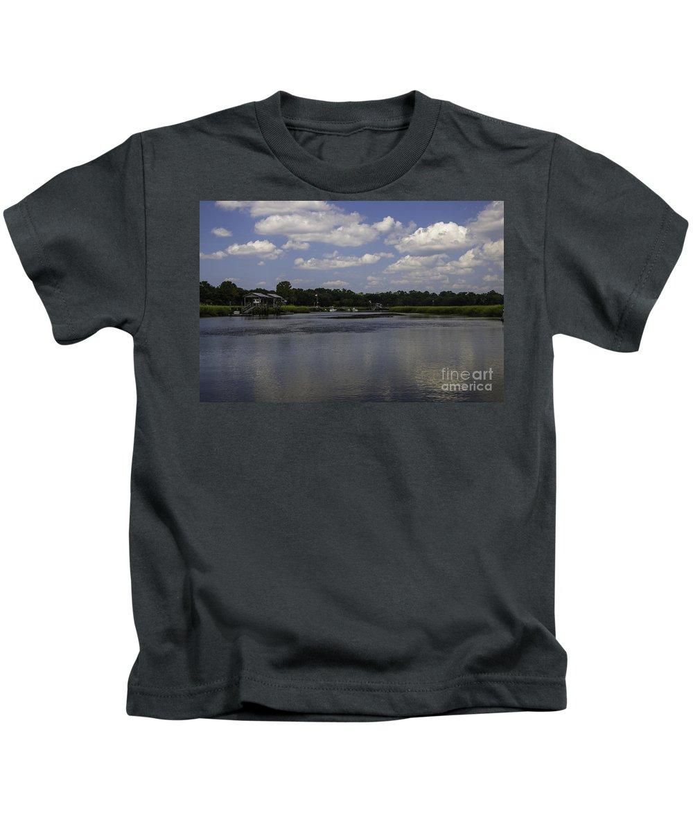 Shem Creek Kids T-Shirt featuring the photograph Sweet Balmy Breeze On Shem Creek by Dale Powell