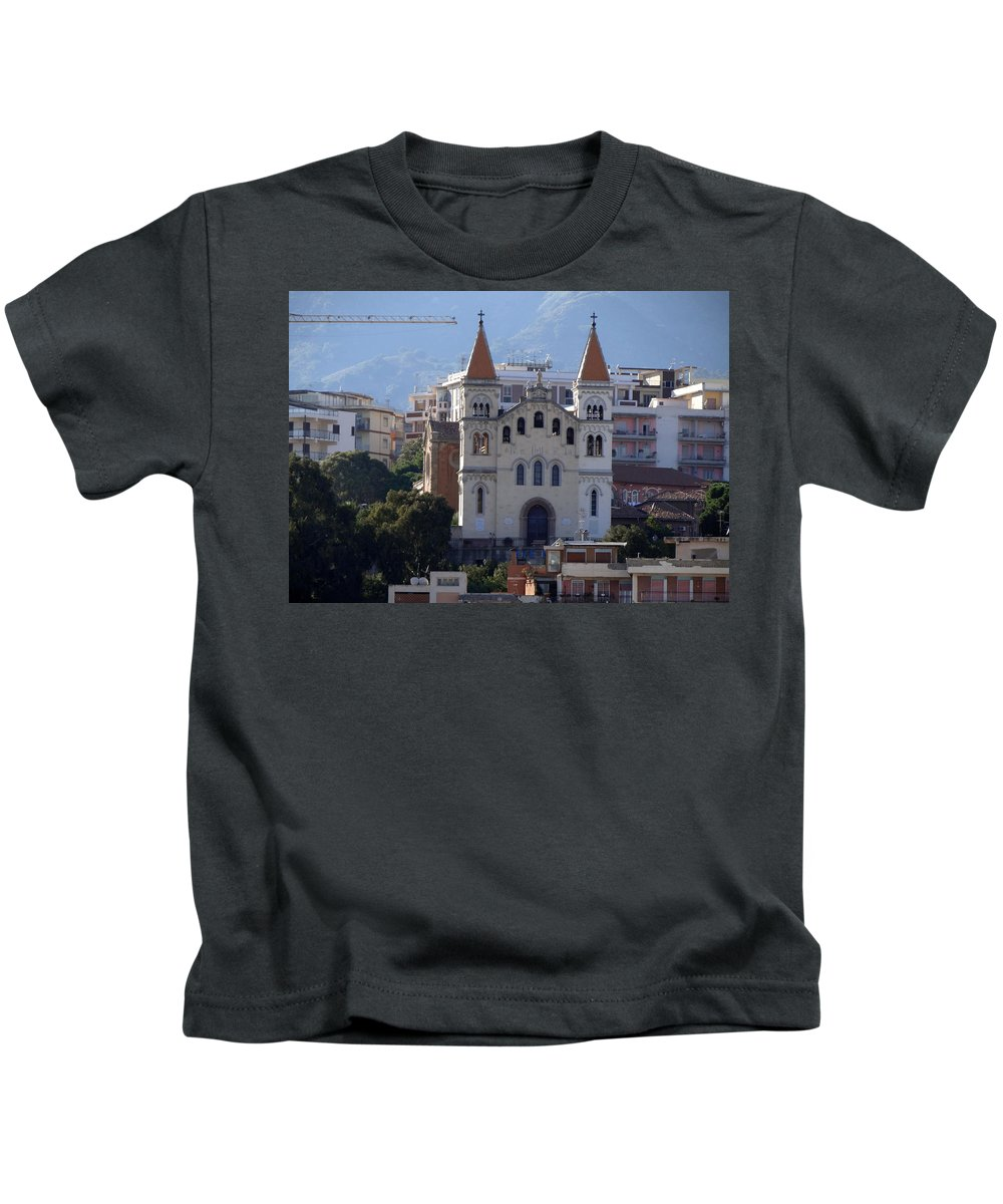 Mediterranean Kids T-Shirt featuring the photograph Views Of Messina Italy by Richard Rosenshein