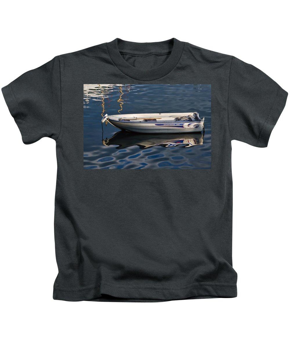 Lyme-regis Kids T-Shirt featuring the photograph Lyme Regis Harbour by Susie Peek