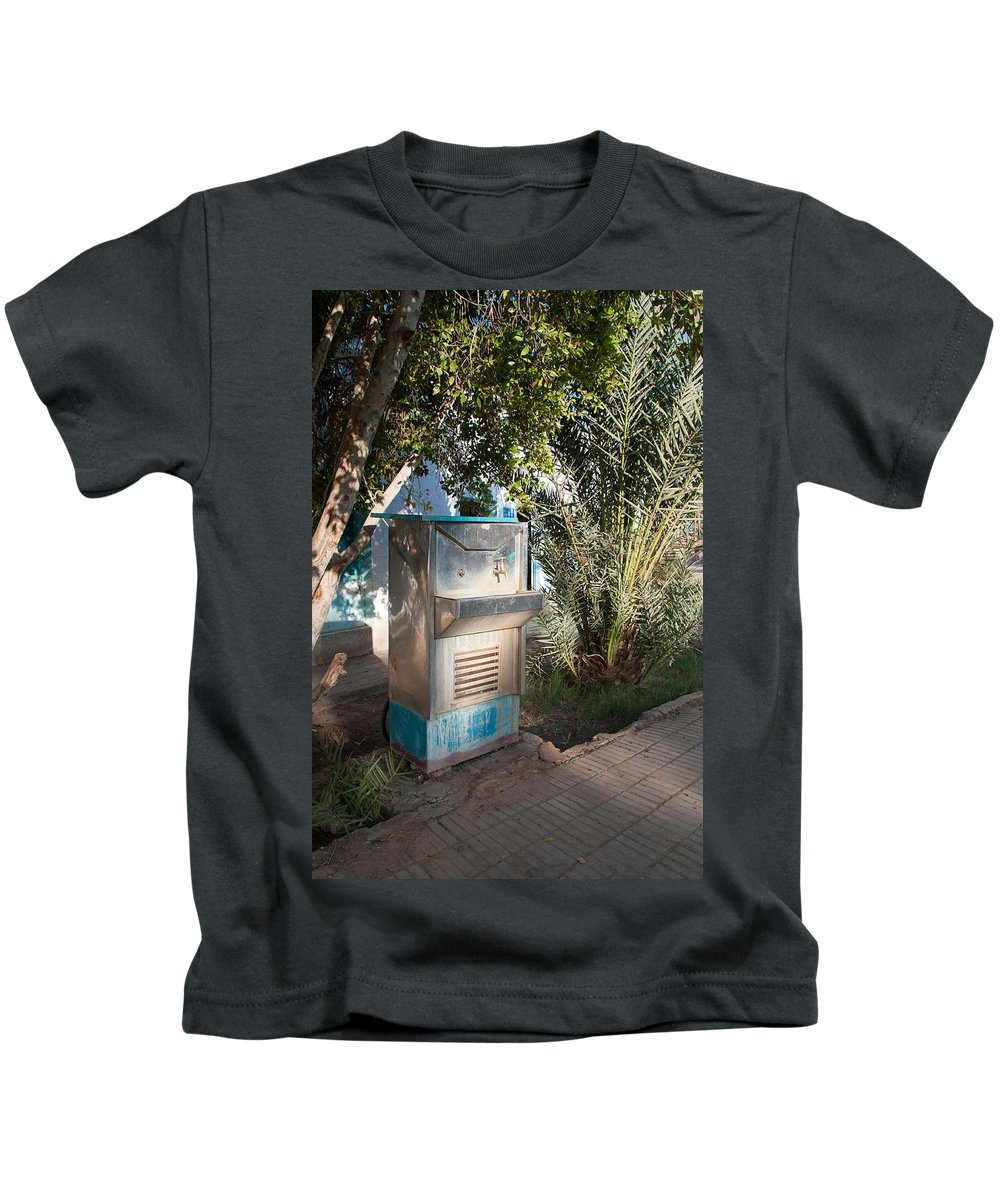 Drinking Water Kids T-Shirt featuring the digital art Dakhla by Carol Ailles