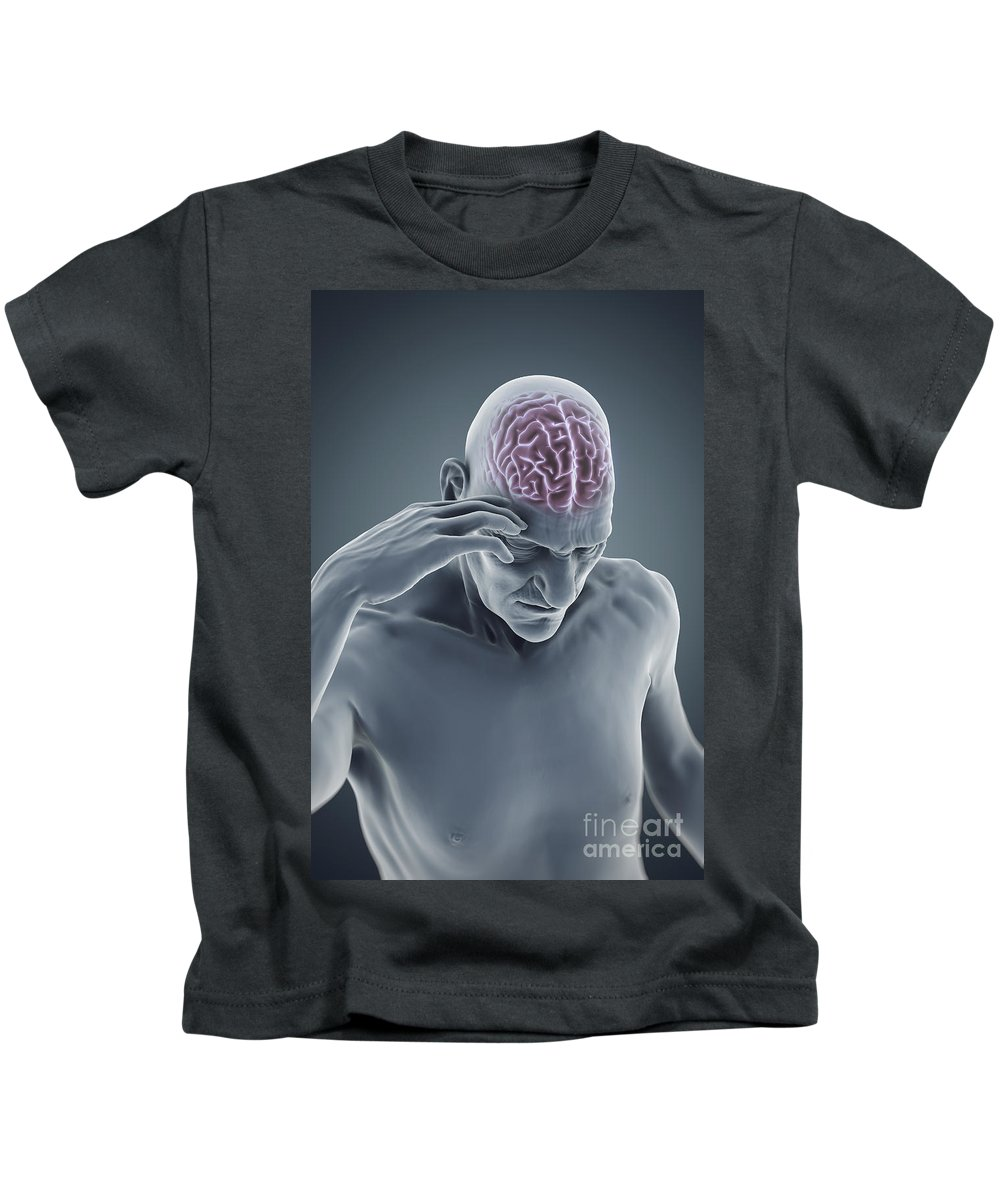 Head Pain Kids T-Shirt featuring the photograph Head Ache by Science Picture Co