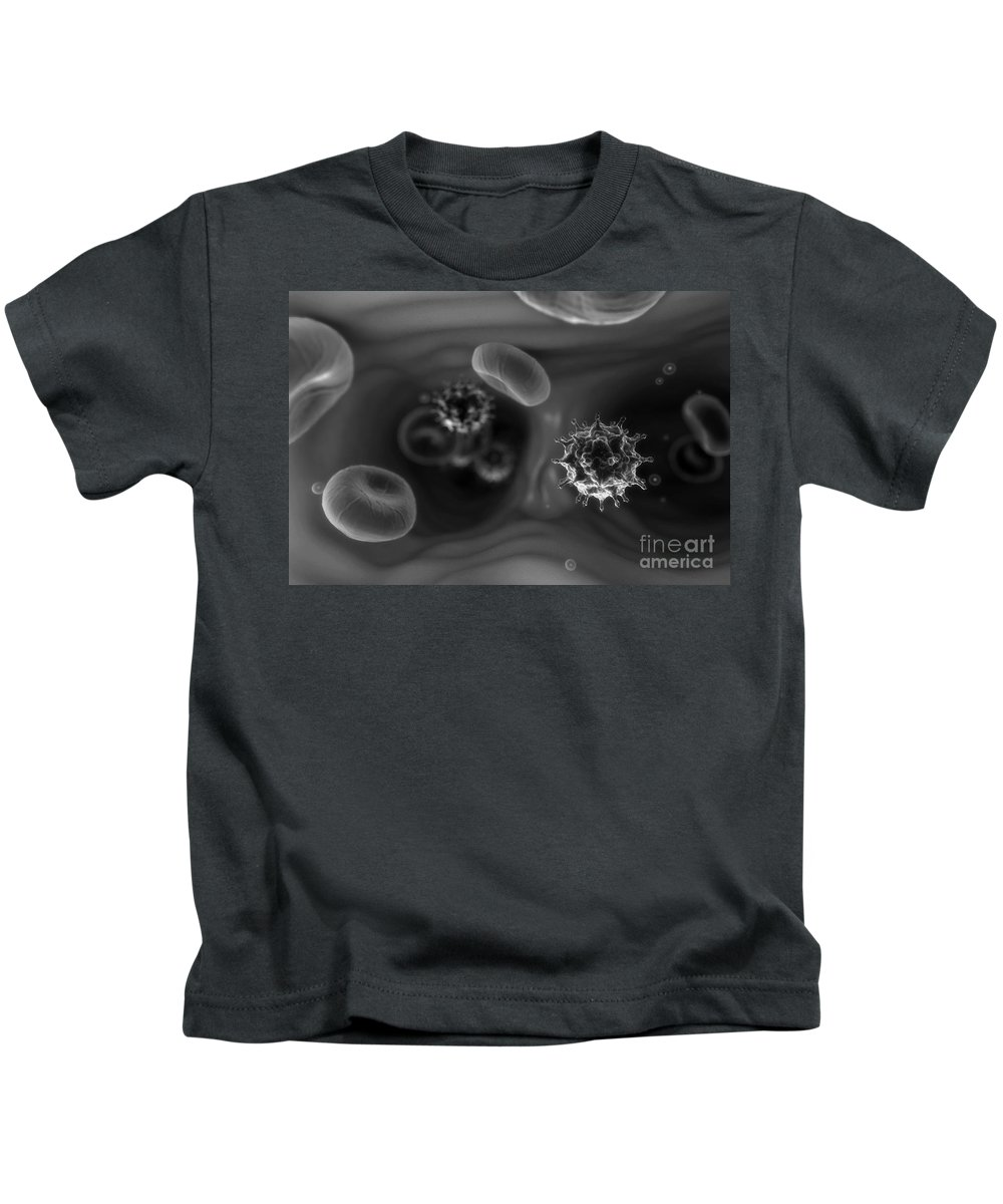 Disease Causing Kids T-Shirt featuring the photograph Hiv Infection by Science Picture Co