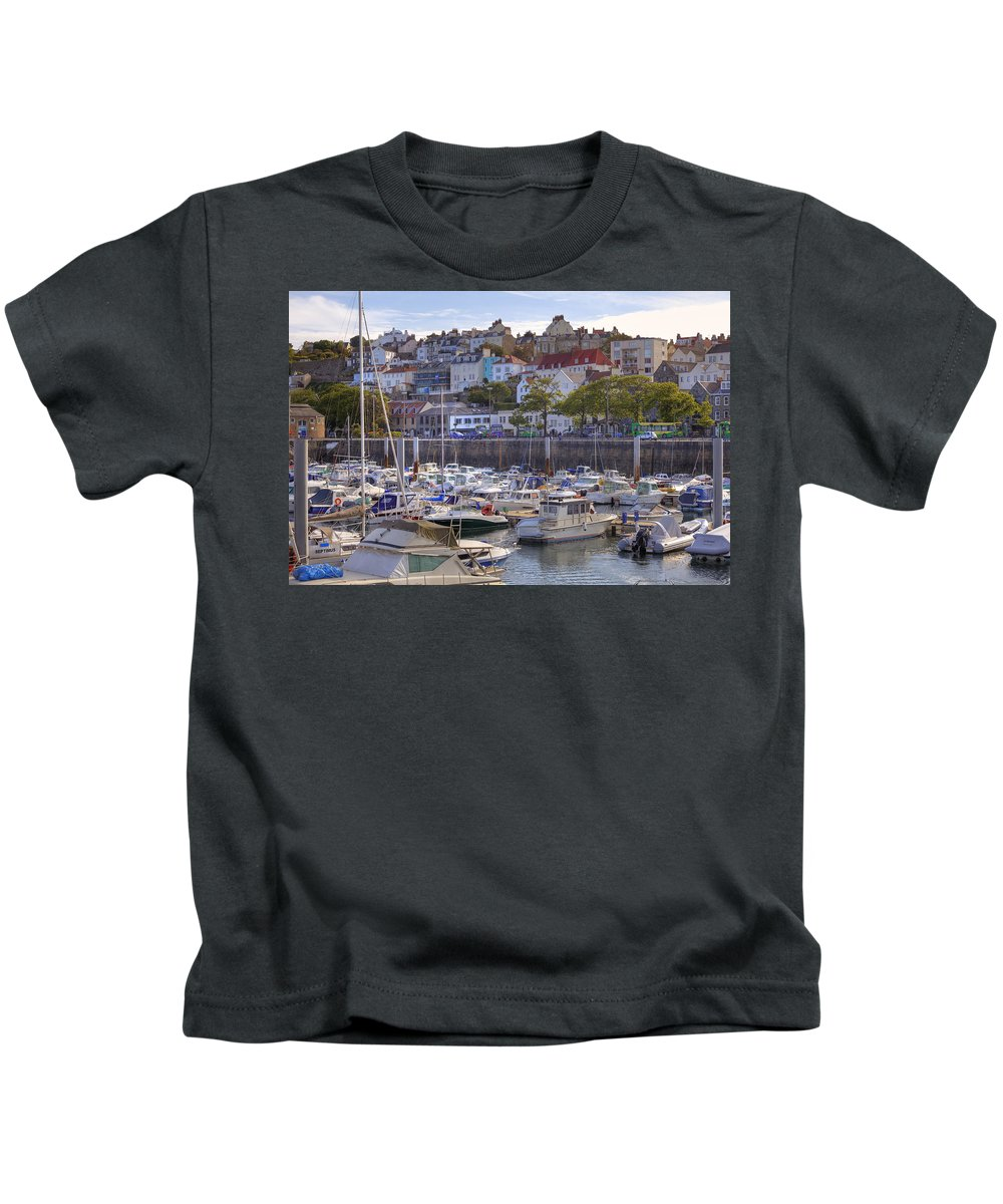 City Kids T-Shirt featuring the photograph St Peter Port - Guernsey by Joana Kruse