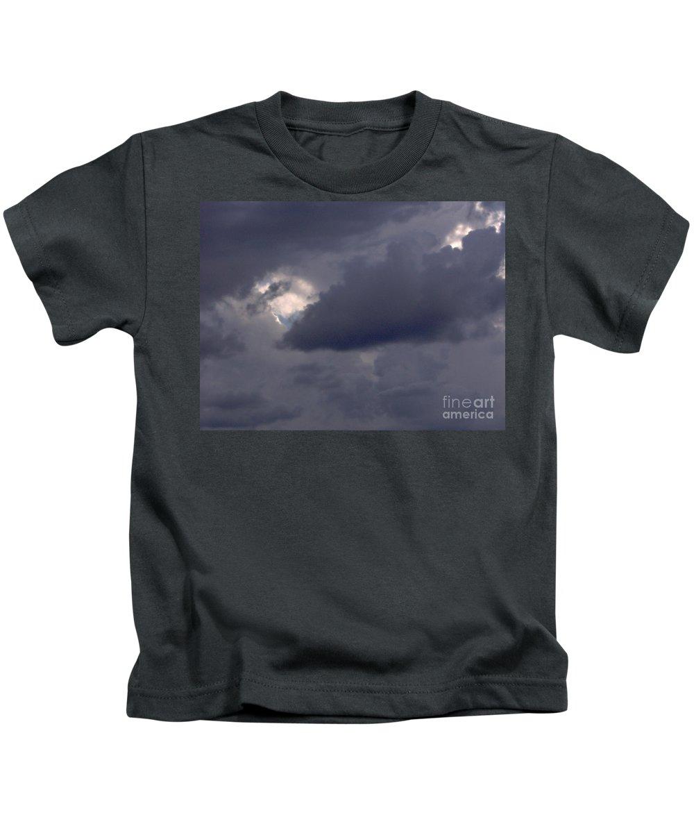 Clouds Kids T-Shirt featuring the photograph Summer Storm Clouds by D Hackett
