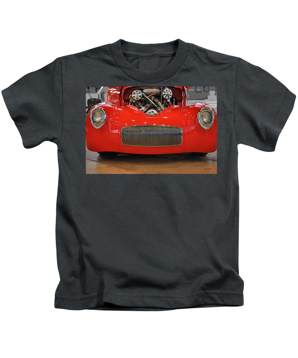 Wright Kids T-Shirt featuring the photograph '41 Willy's Coupe Street Rod by Paulette B Wright