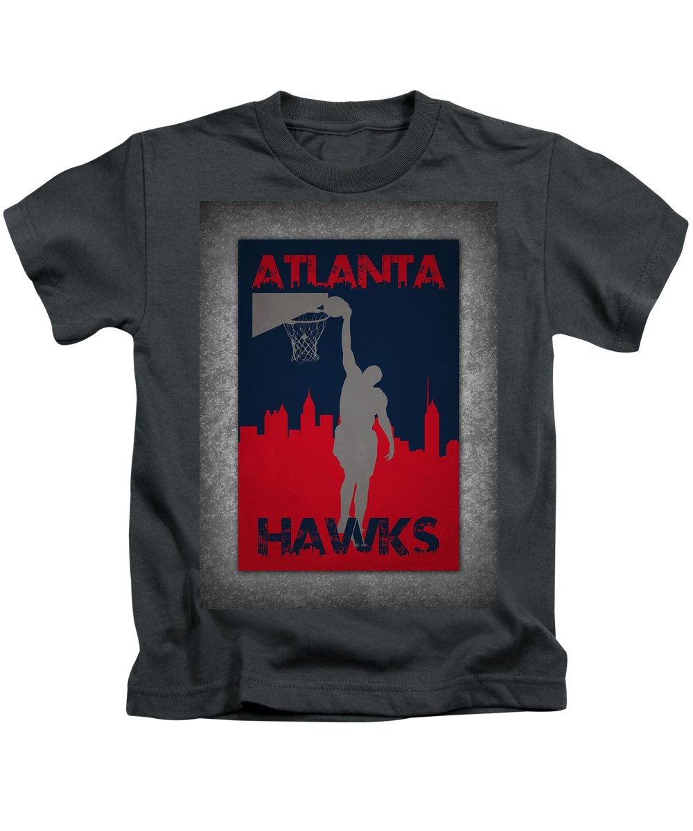 Hawks Kids T-Shirt featuring the photograph Atlanta Hawks by Joe Hamilton