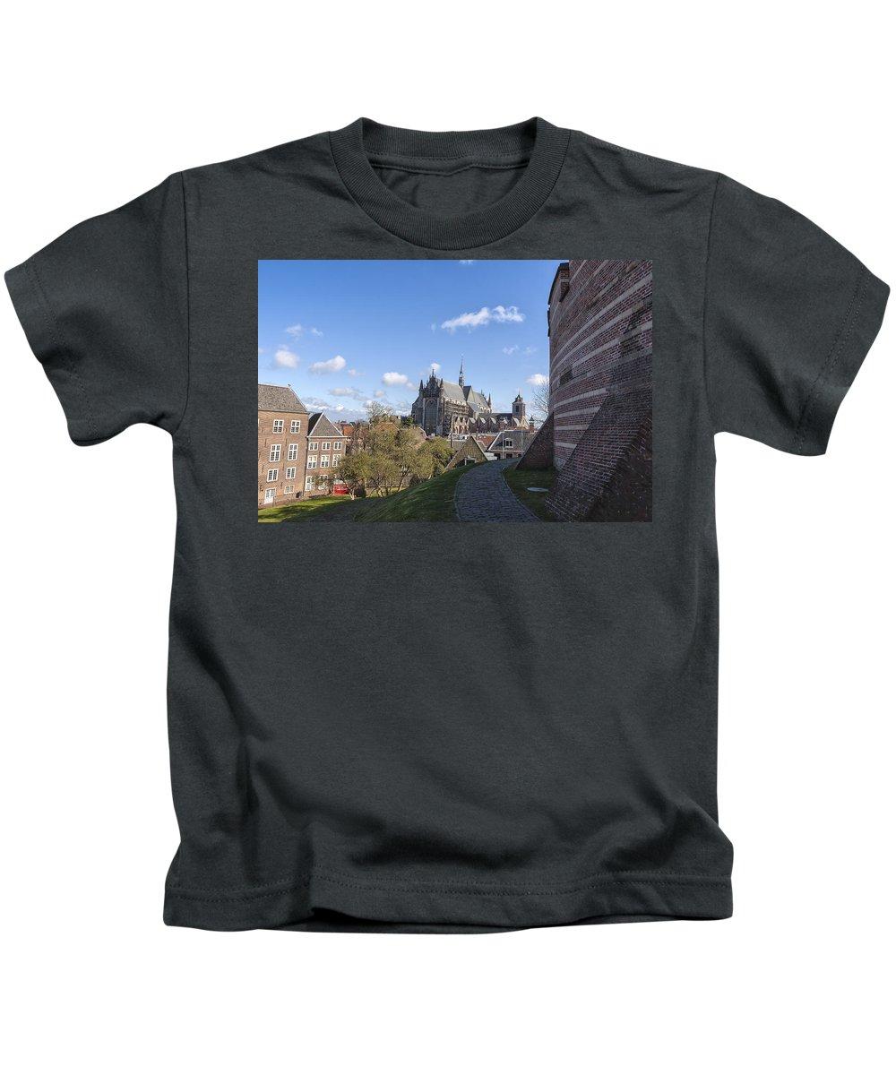 Leiden Kids T-Shirt featuring the photograph Leiden by Joana Kruse