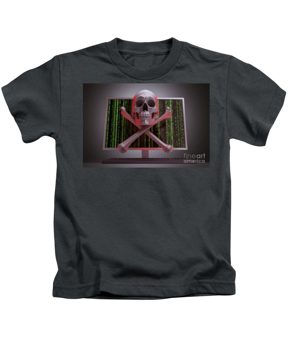 Information Theft Kids T-Shirt featuring the photograph Online Security by Science Picture Co