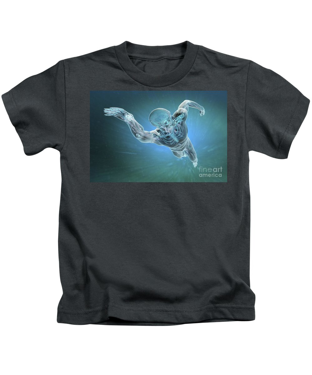 Biomedical Illustration Kids T-Shirt featuring the photograph Swimming by Science Picture Co