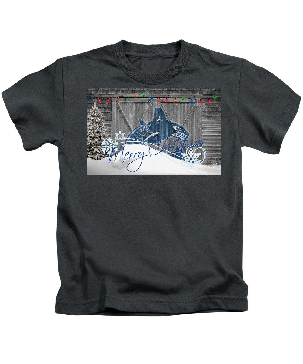 Canucks Kids T-Shirt featuring the photograph Vancouver Canucks by Joe Hamilton