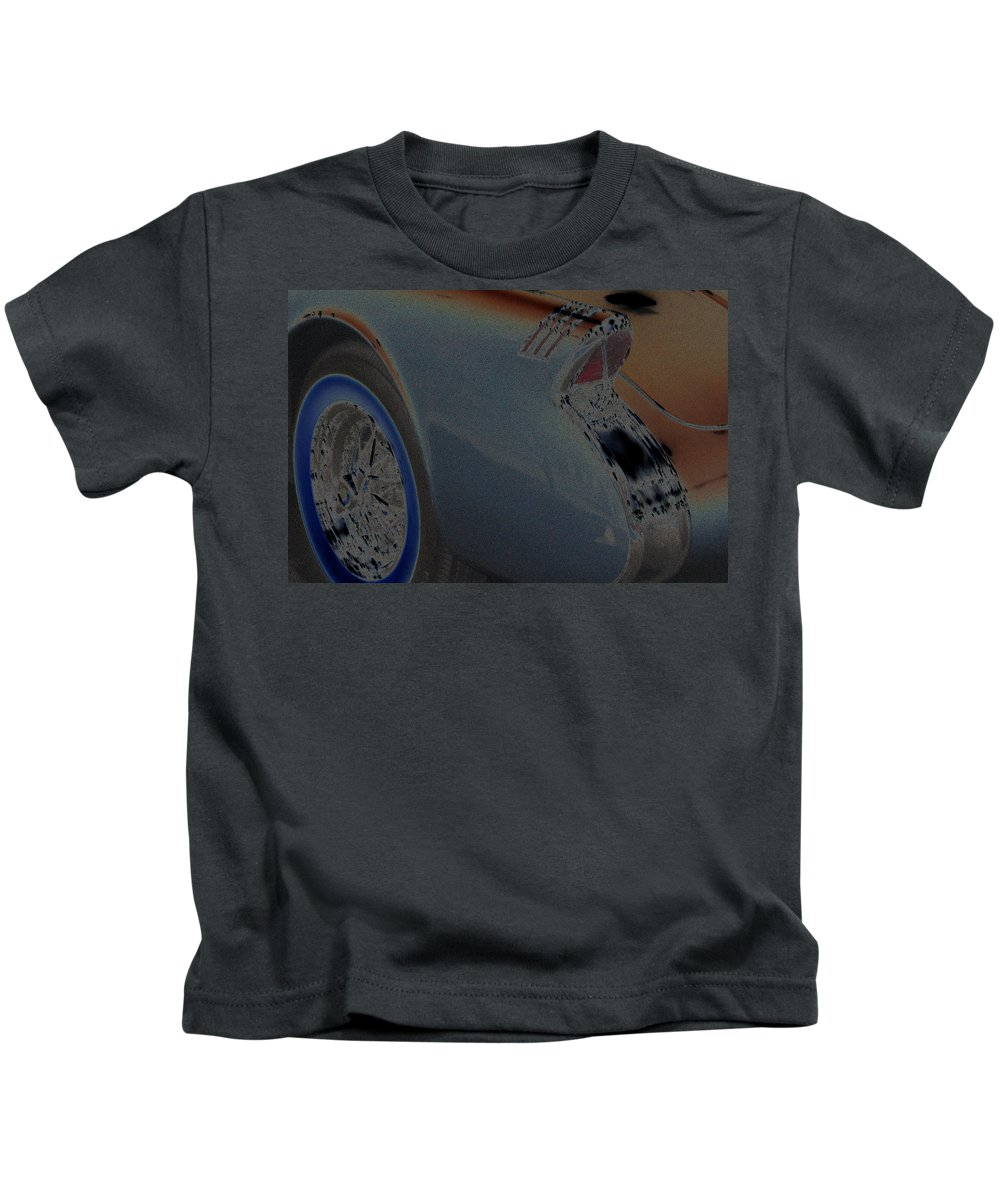 Car Kids T-Shirt featuring the photograph 55 Buick Skylark by Carolyn Stagger Cokley