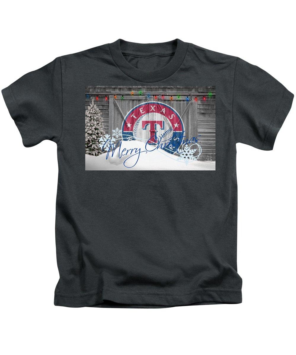 Rangers Kids T-Shirt featuring the photograph Texas Rangers by Joe Hamilton