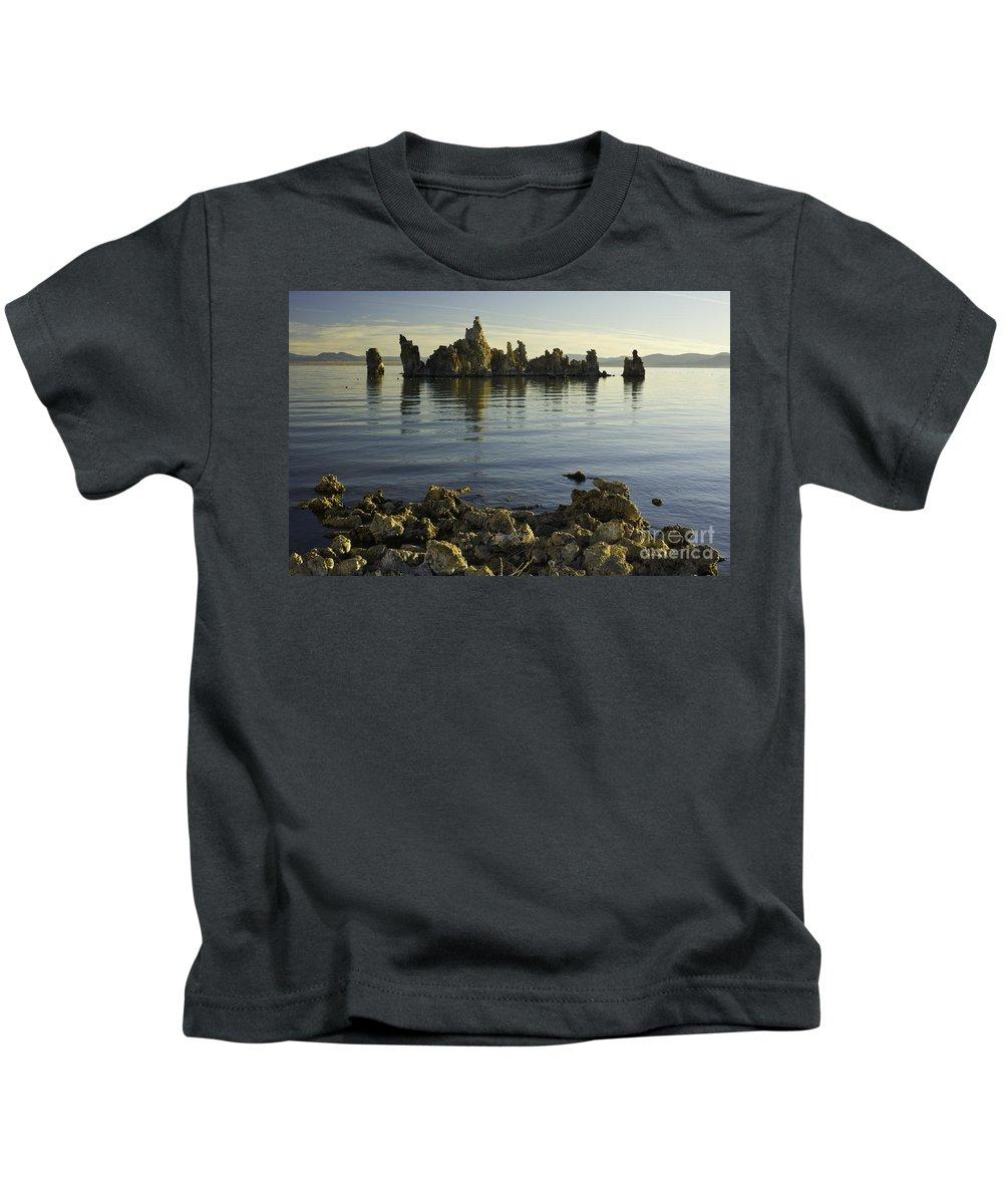 Tufa Kids T-Shirt featuring the photograph Tufa Formations by John Shaw