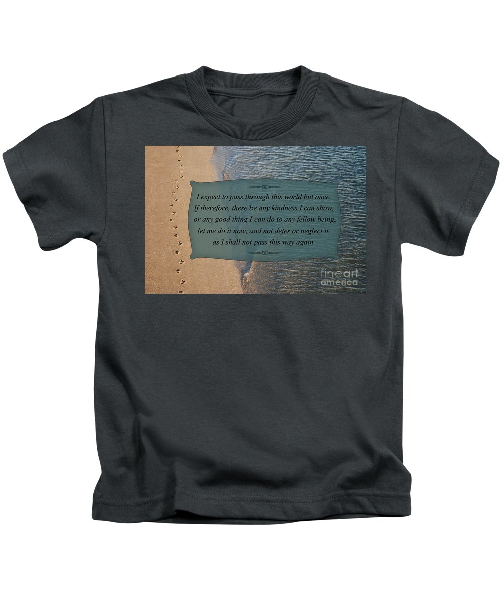 Inspirational Quotes Kids T-Shirt featuring the photograph 62- Inspiration by Joseph Keane