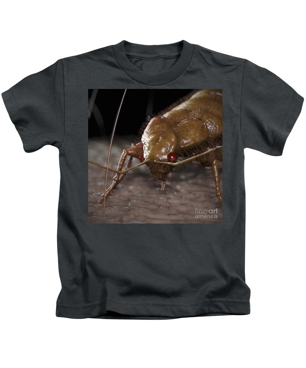 Hematophagy Kids T-Shirt featuring the photograph Bedbug Cimex Lectularius by Science Picture Co