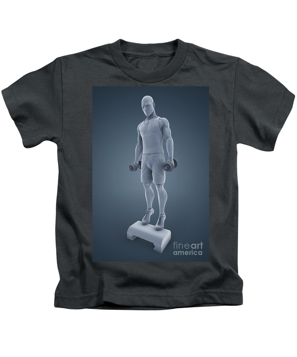 Full View Kids T-Shirt featuring the photograph Exercise Workout by Science Picture Co