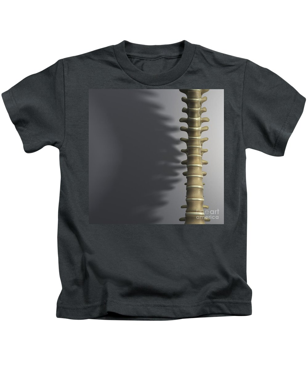 Close-up Kids T-Shirt featuring the photograph Spinal Anatomy by Science Picture Co
