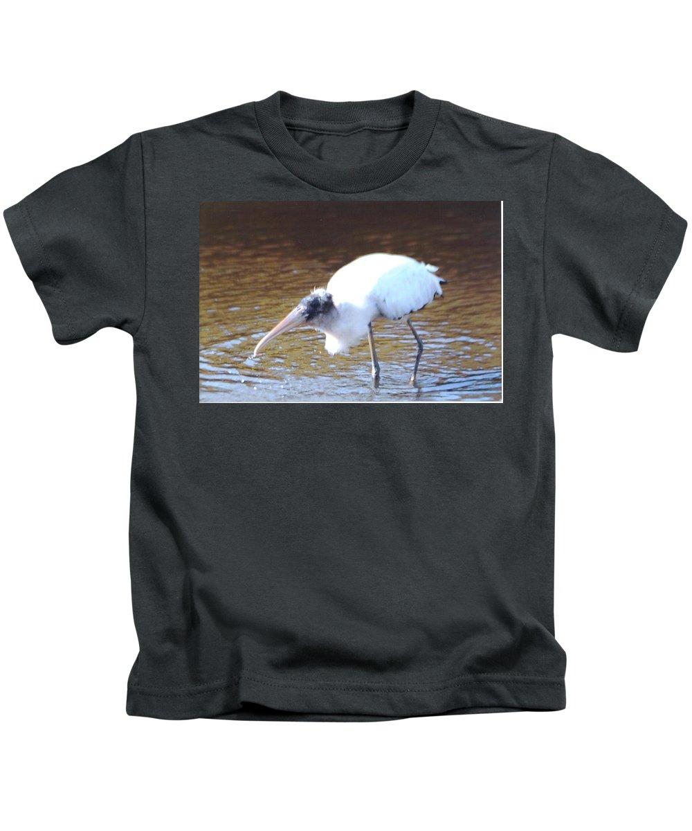 Fishing Kids T-Shirt featuring the photograph Wood Stork by Robert Floyd
