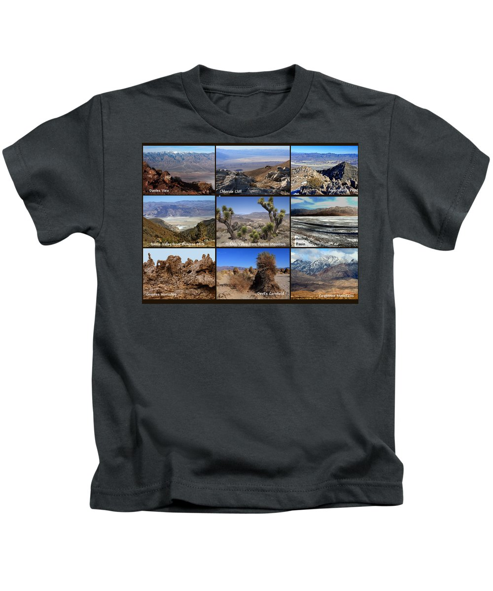 Landscapes Kids T-Shirt featuring the photograph A Collection Of Views by David Salter