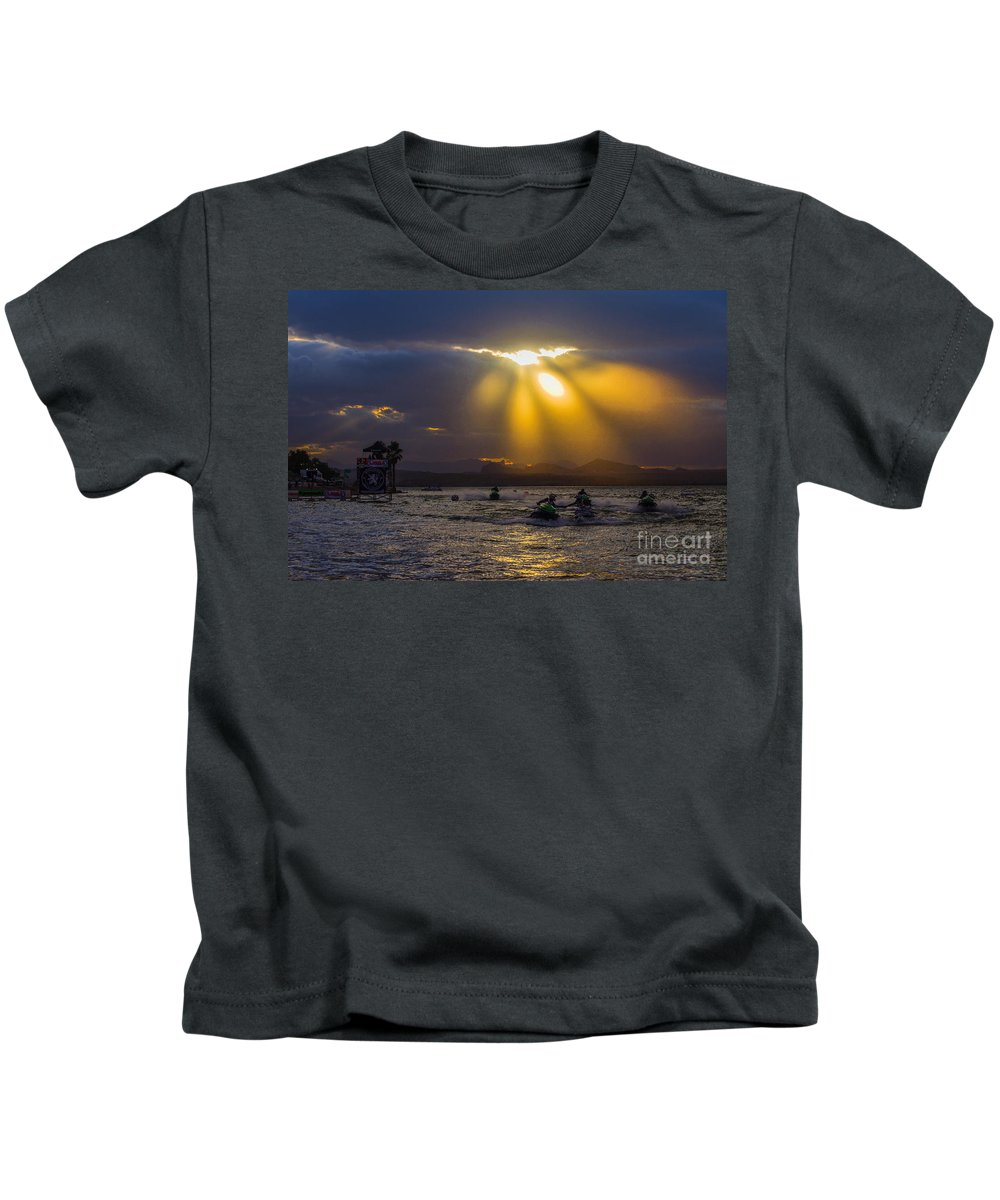 Sky Kids T-Shirt featuring the photograph A Heavenly Display by Joy McAdams