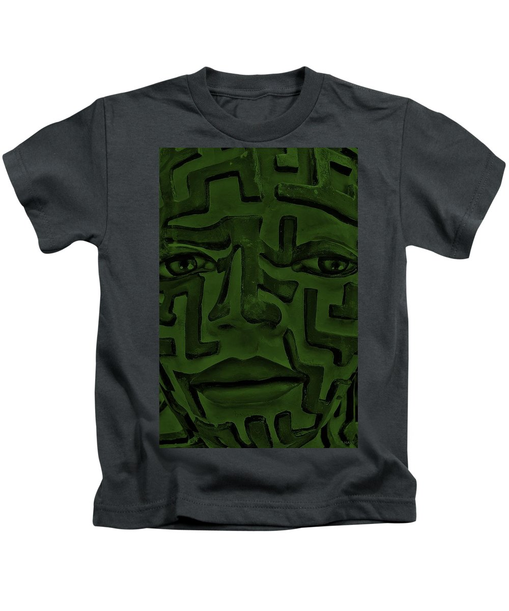 Maze Kids T-Shirt featuring the photograph A Mazing Olive Face by Rob Hans