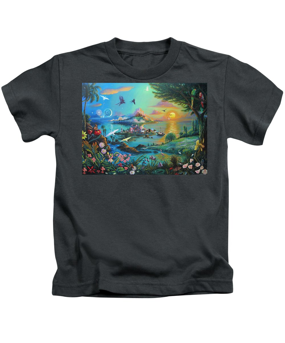 Fantasy Kids T-Shirt featuring the painting A Son by Matthew Pinkey