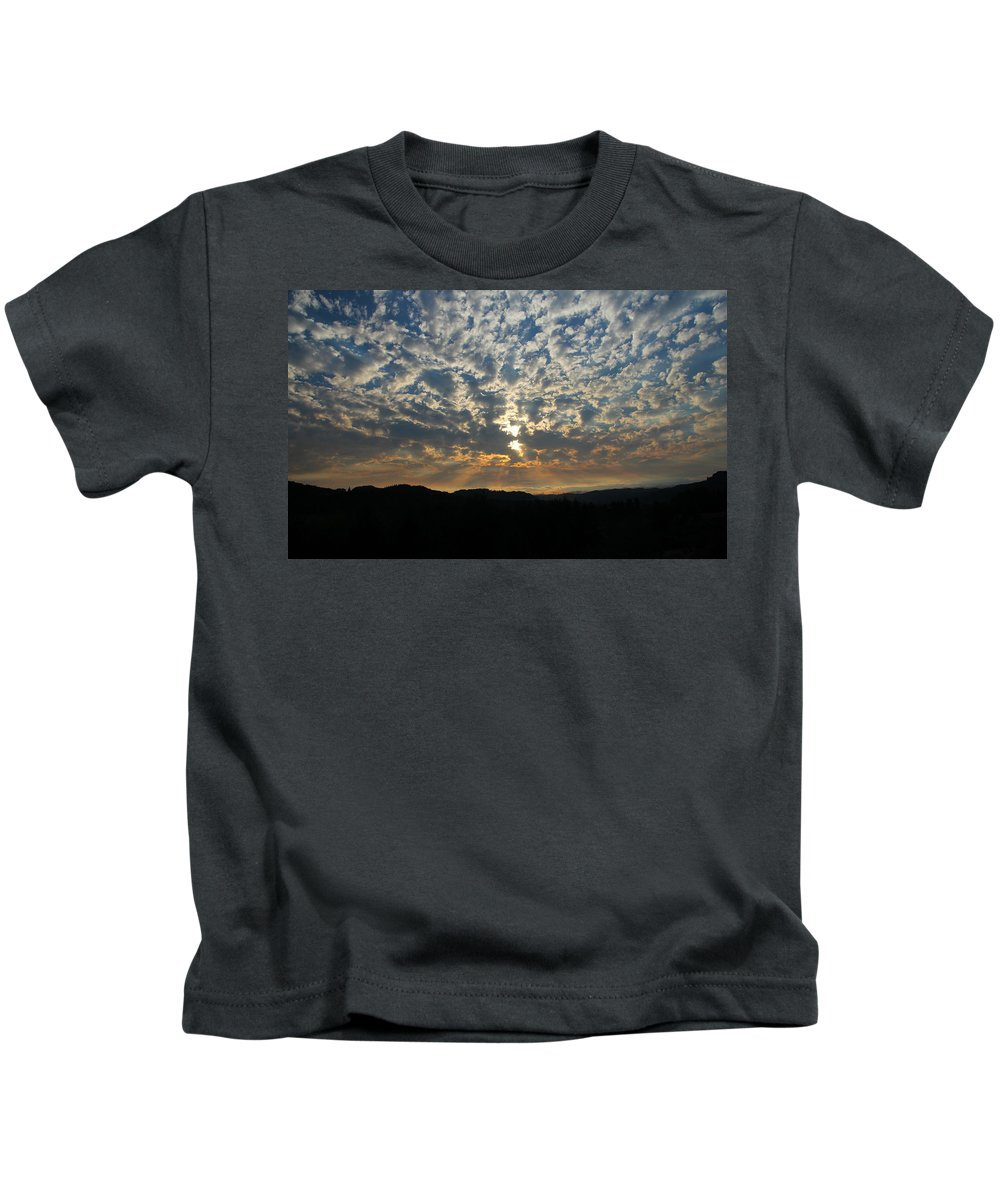 Cloudy Kids T-Shirt featuring the photograph A Storm Is Coming by Katie Wing Vigil