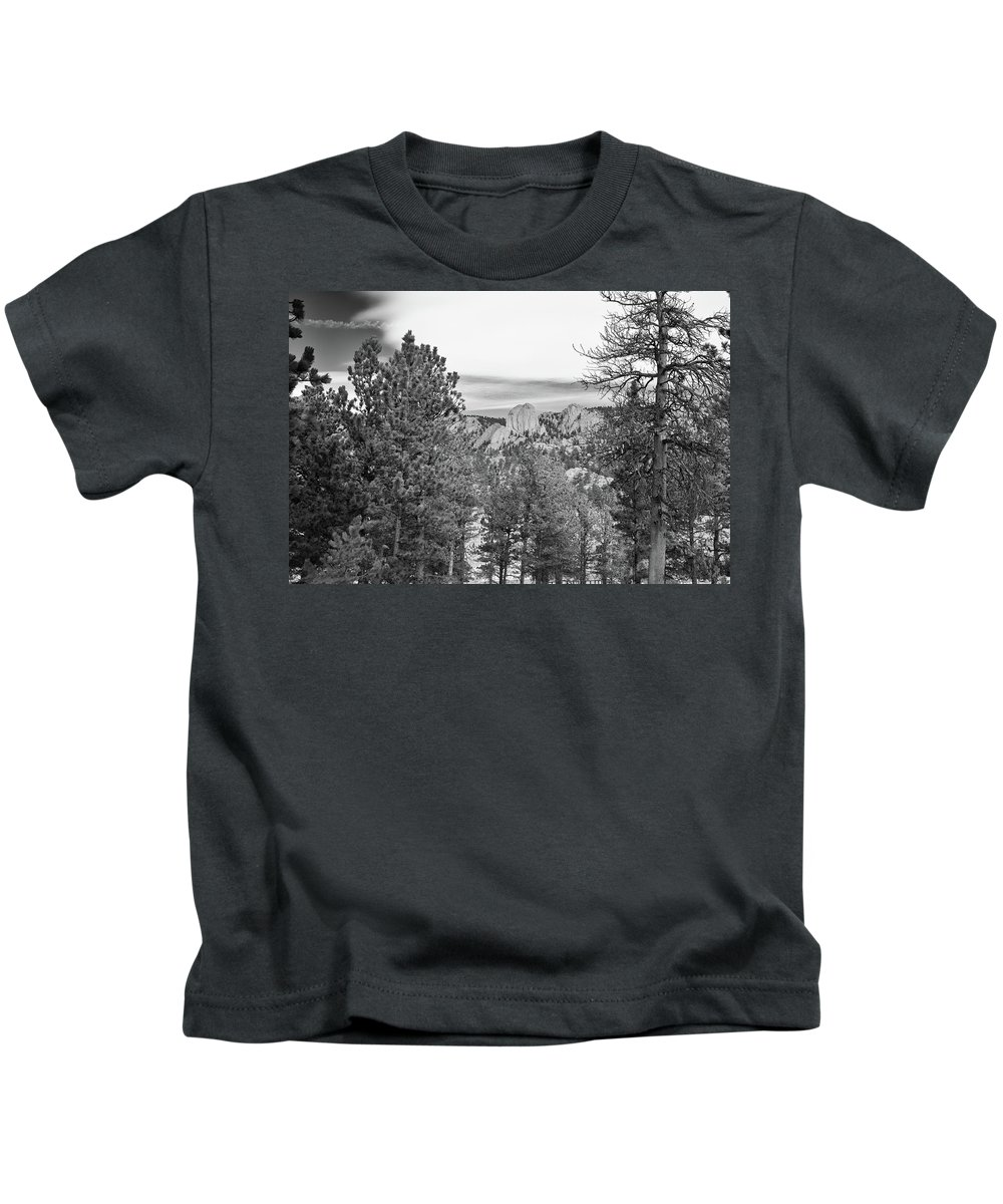 Guy Whiteley Photography Kids T-Shirt featuring the photograph A View From Estes Park by Guy Whiteley