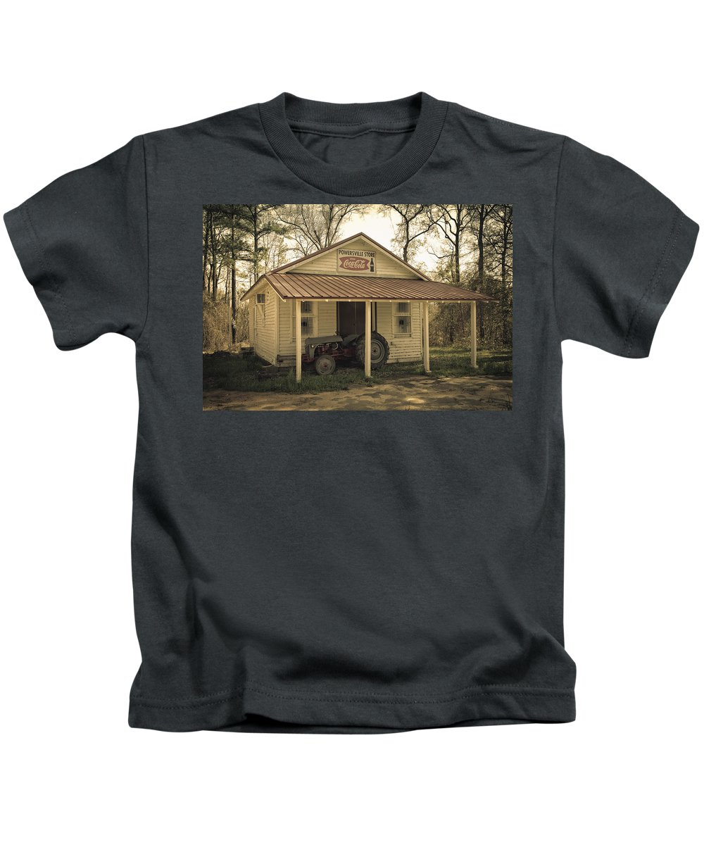 Gas Station Kids T-Shirt featuring the photograph Abandoned by Kim Hojnacki