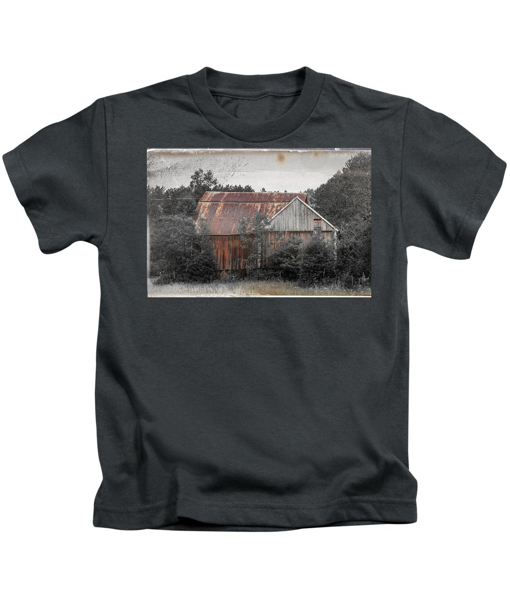 Barn Kids T-Shirt featuring the photograph Abandoned by Sherman Perry