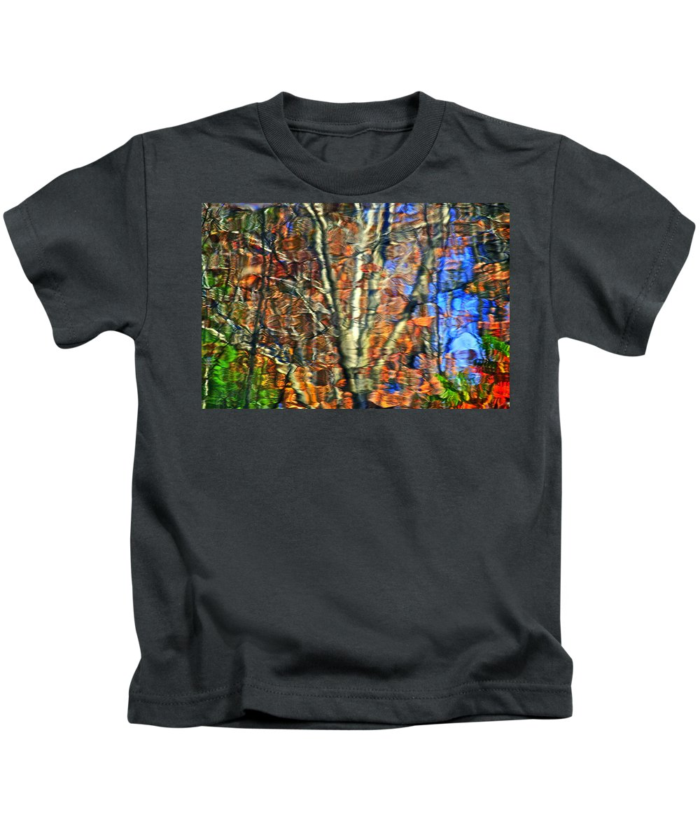 Abstract Kids T-Shirt featuring the photograph Abstract Reflection Photo by Frozen in Time Fine Art Photography