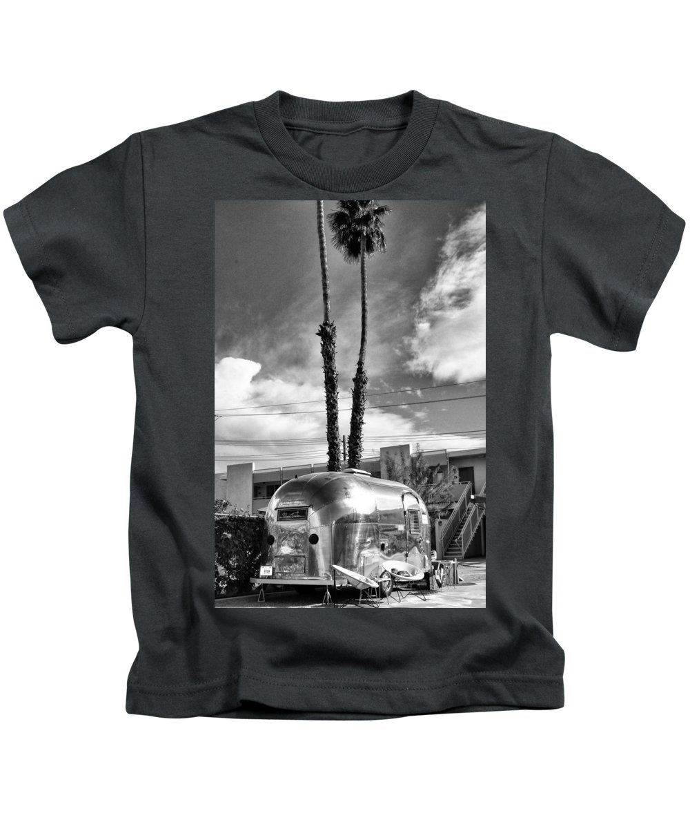 Airstream Kids T-Shirt featuring the photograph Ace Trailer Palm Springs by William Dey