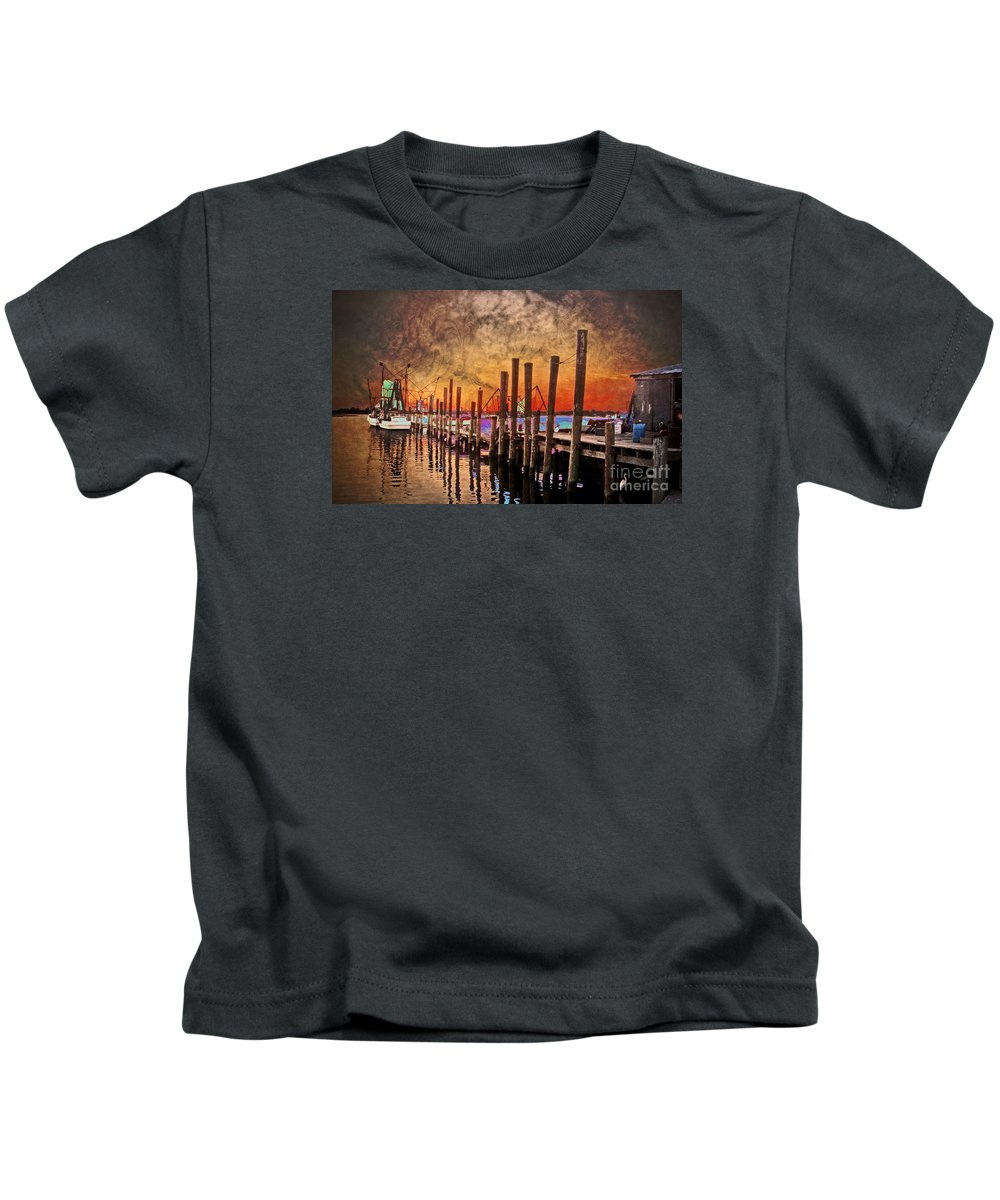 North Carolina Kids T-Shirt featuring the photograph Acid Washed by Kelley Freel-Ebner