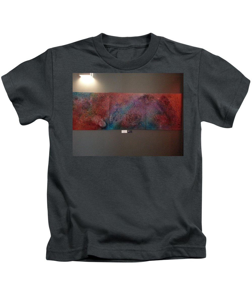 Universe Kids T-Shirt featuring the painting Across The Universe by Angelina Vick